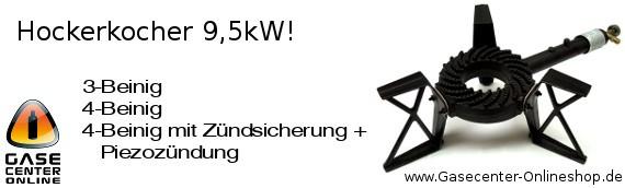Hockerkocher 9,5 kW in verschiedenen Varianten